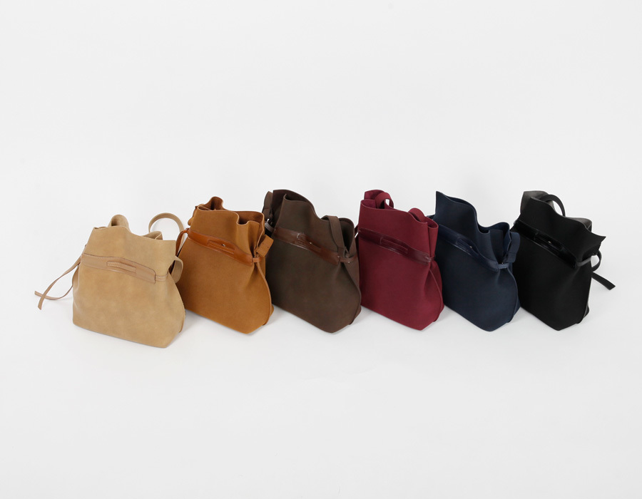 Suede strap lucky bag_M (size : one)