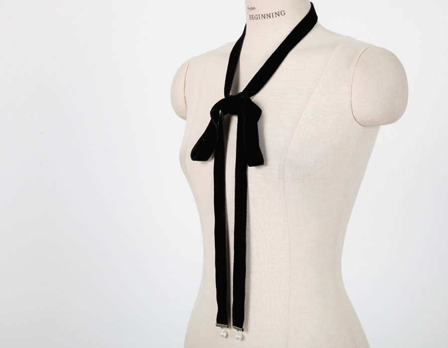 Made_acc-008_Pearl velvet tie (size : one)