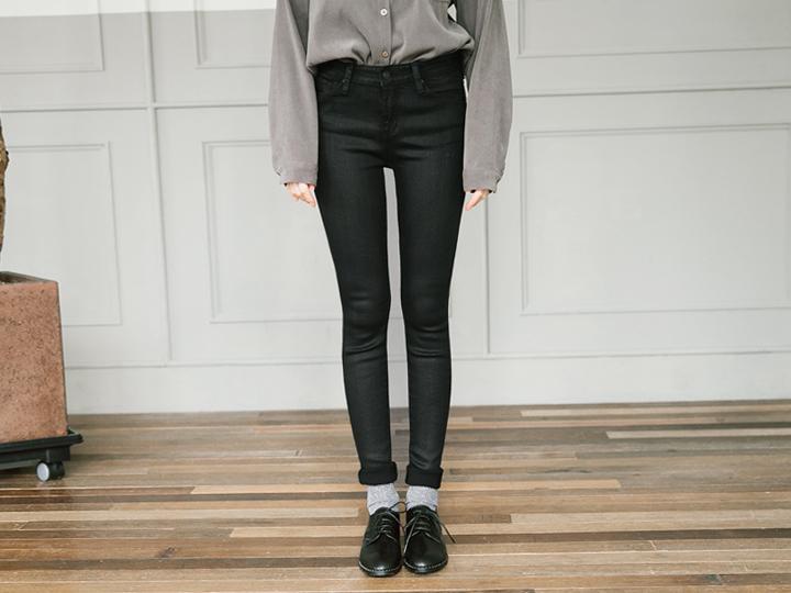 [BOTTOM] CUTTING HEM COATING PANTS