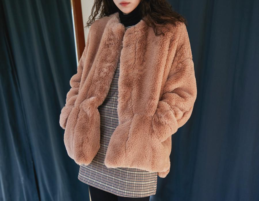 Holy fur single jacket_M (size : free)