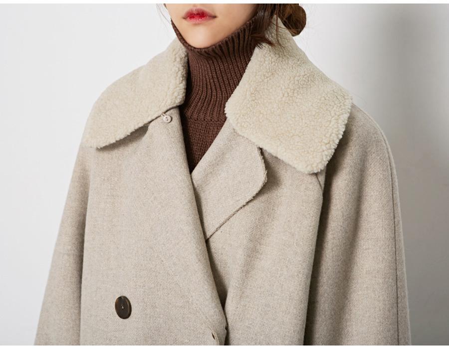 Hazy belt wool coat_M (size : free)