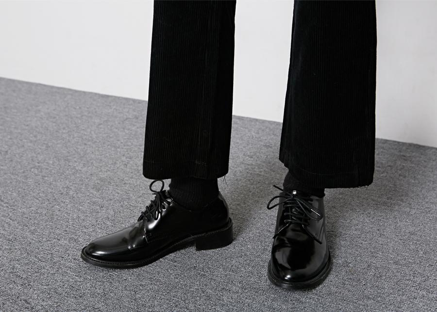 Corduroy cutting boots-cut pants_B (size : S,M,L)