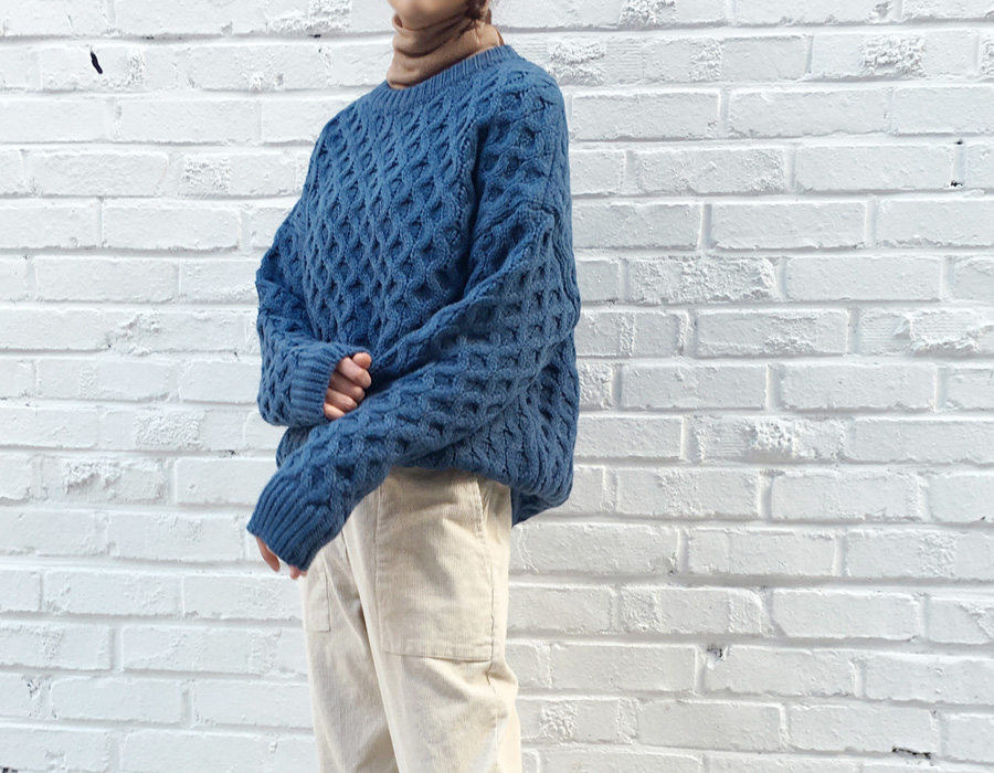 Dust cable round knit_M (size : free)