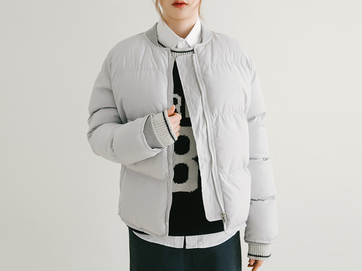 [OUTER] DAILY SHORTS PADDING JUMPER