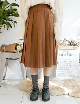 Winter sweat pleats skirt_H (size : free)