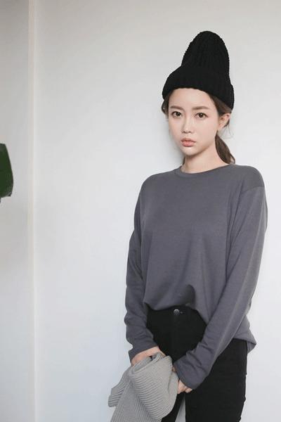 겨울모달 기모티셔츠 (컬러별로 쟁이고픈 베이직티셔츠)