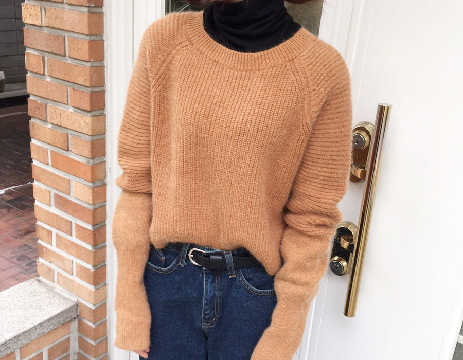 Glow crop angora knit_K(size : free)