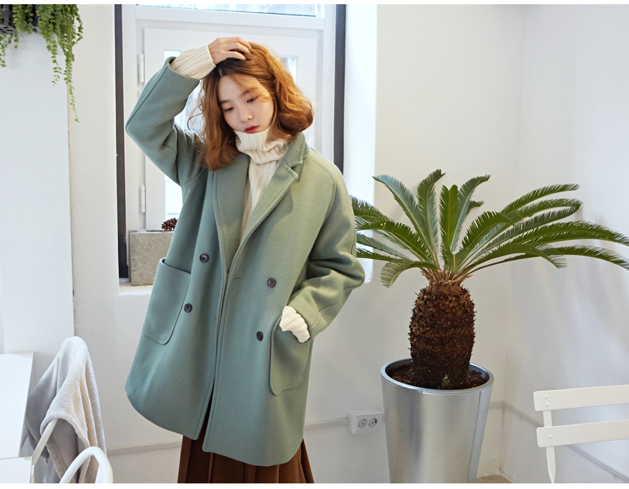 Candy double cocoon coat_M (size : free)