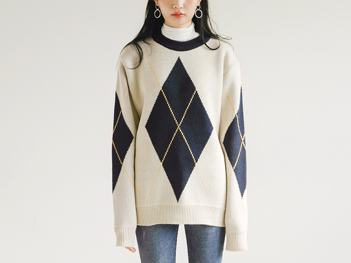 [TOP] AGAIL COLORATON KNIT