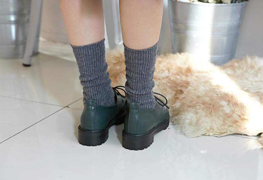 Winter golgi knit socks_H (size : one)