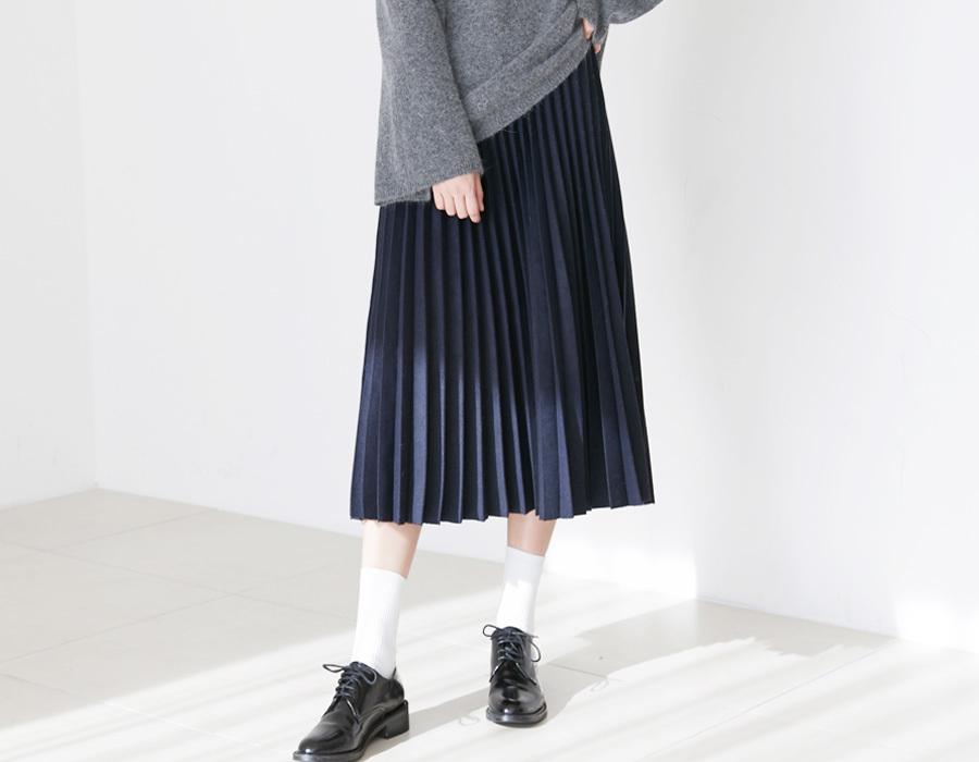 Holiday banding pleats skirt_K(size : free)