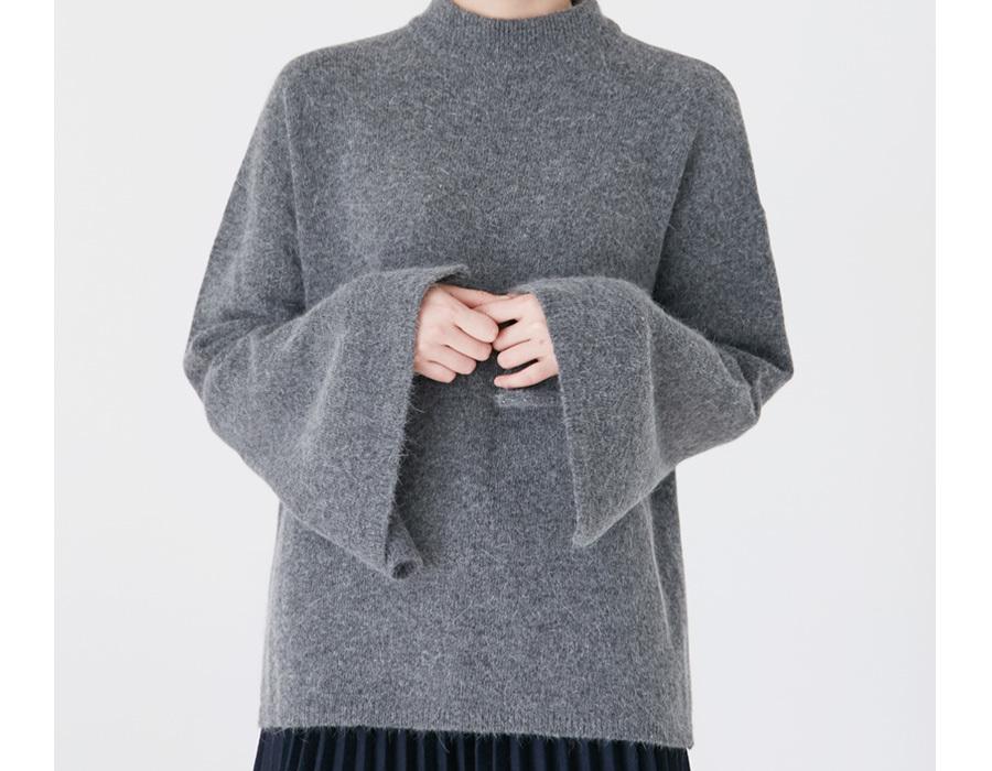 Bell sleeve angora knit_K(size : free)