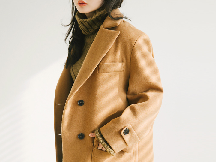 [OUTER] THREE BUTTON BOXY FIT LONG COAT