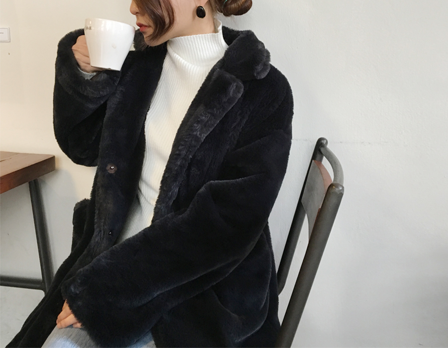 Made_outer-067_soft fur jacket (size : free)