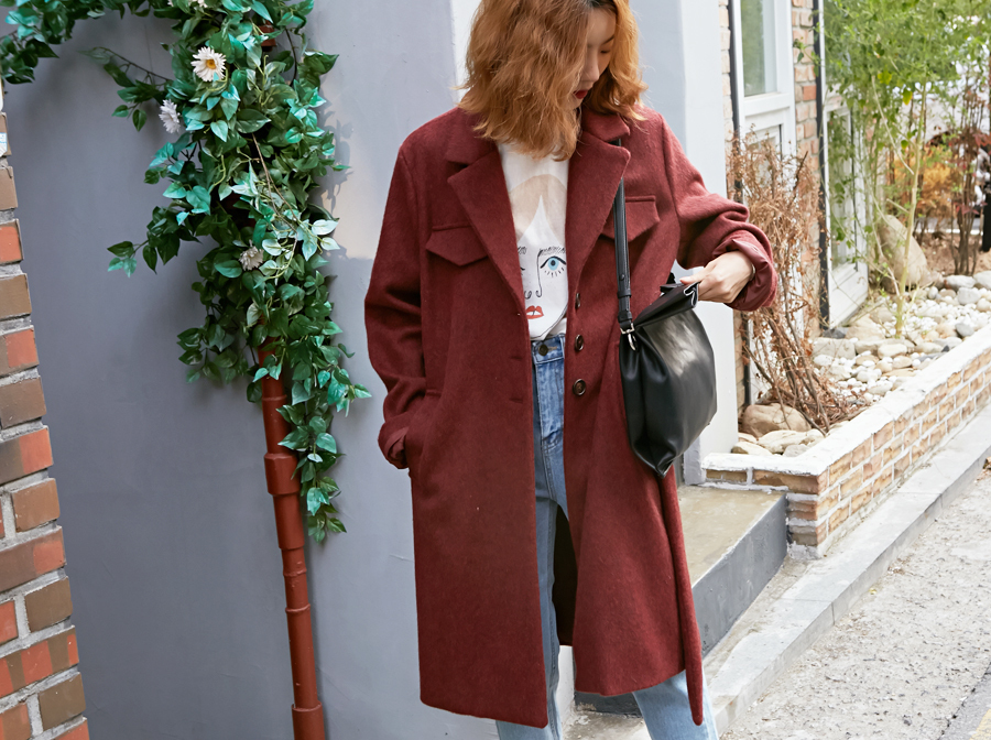 Made_outer-068_mohair single coat (size : free)