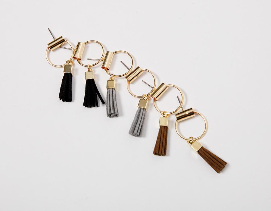 Holy tassel bell earring_K(size : one)