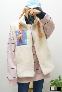 빅포켓양털조끼