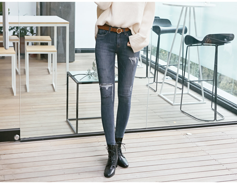 Destroyed napping skinny jeans_M (size : 25,26,27,28,29,30)