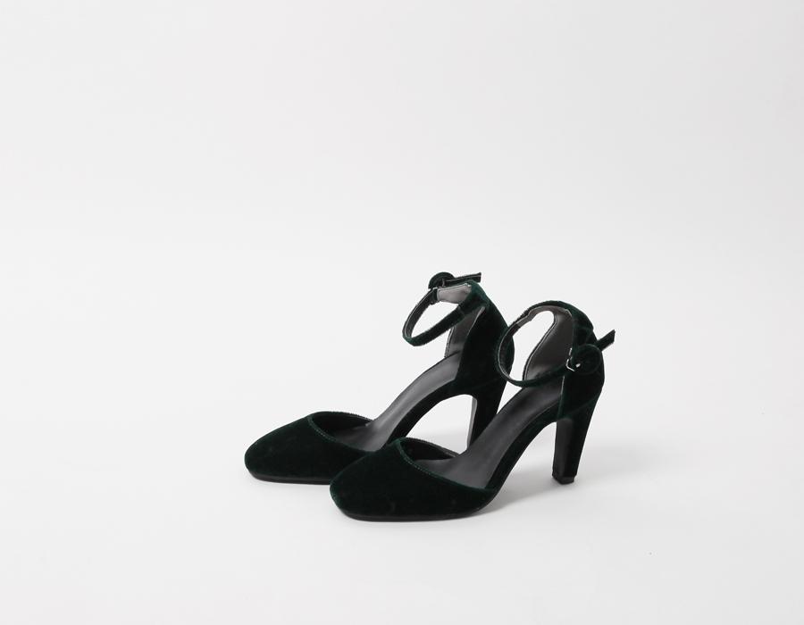 Mood velvet pumps heel_H (size : 225,230,235,240,245,250)