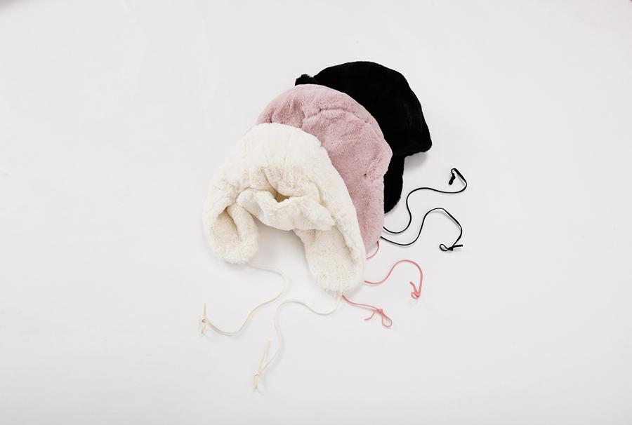 Guppy fur hat_Y (size : one)