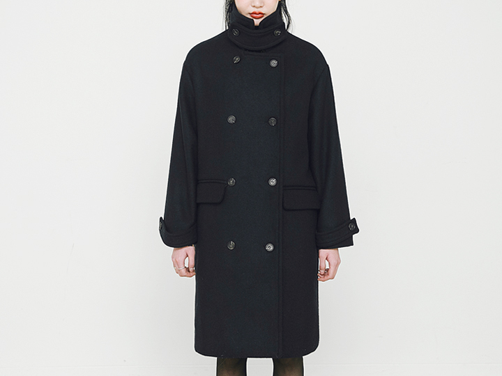 [OUTER] NECK BELTED BOXY COAT
