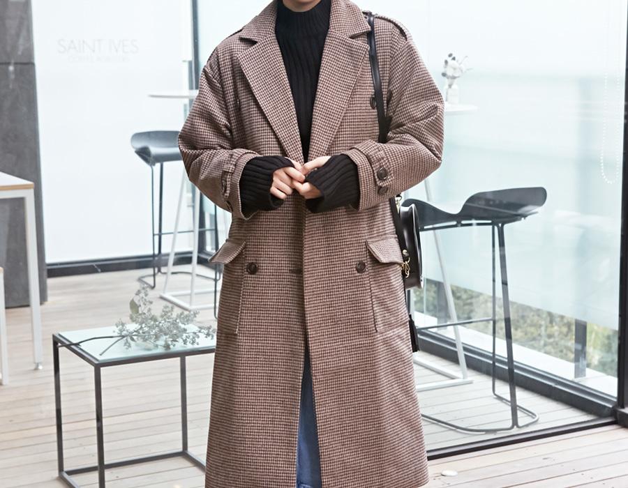 Vivian check wool coat_K(size : free)