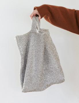 Blush glitter tote bag_M (size : one)
