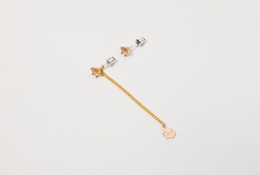 Citrin unbalance earring_Y (size : one)