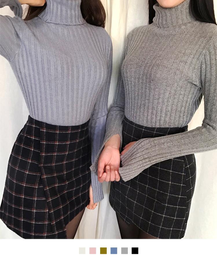 Enter high neck knit