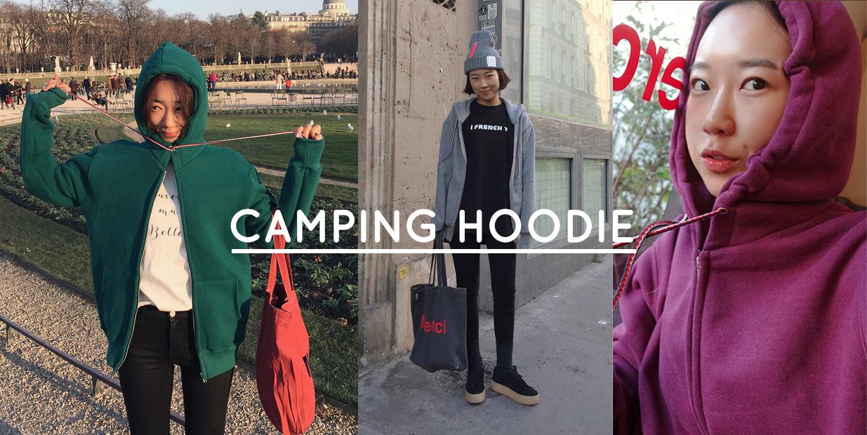 (ZEM.made) Camping-기모후드