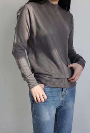 Soft half neck knit (12color)