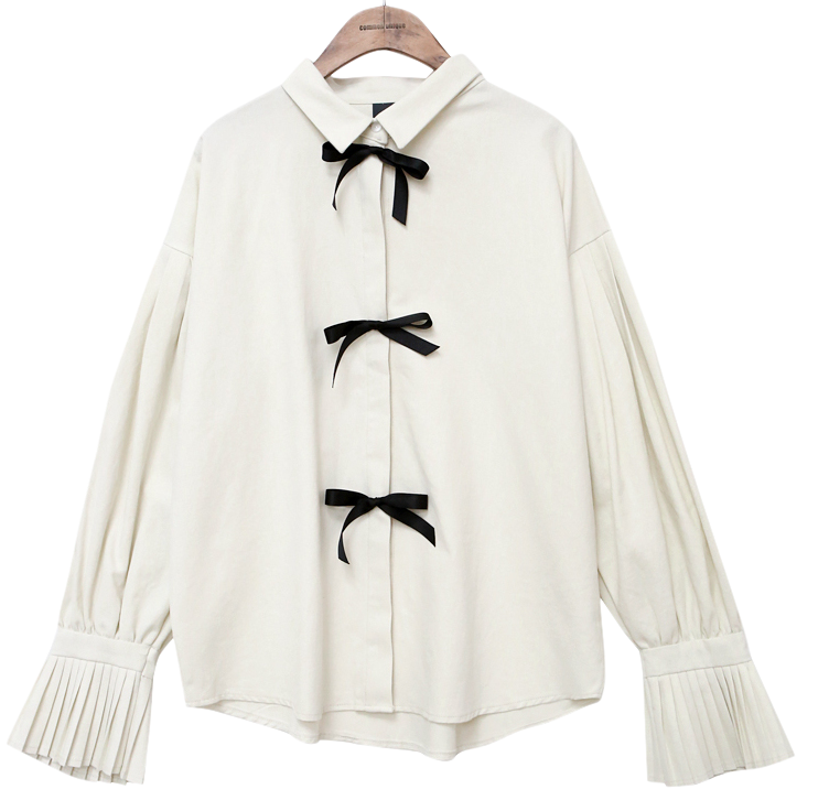 LOVELY PLEATS LIBBON BLOUSE