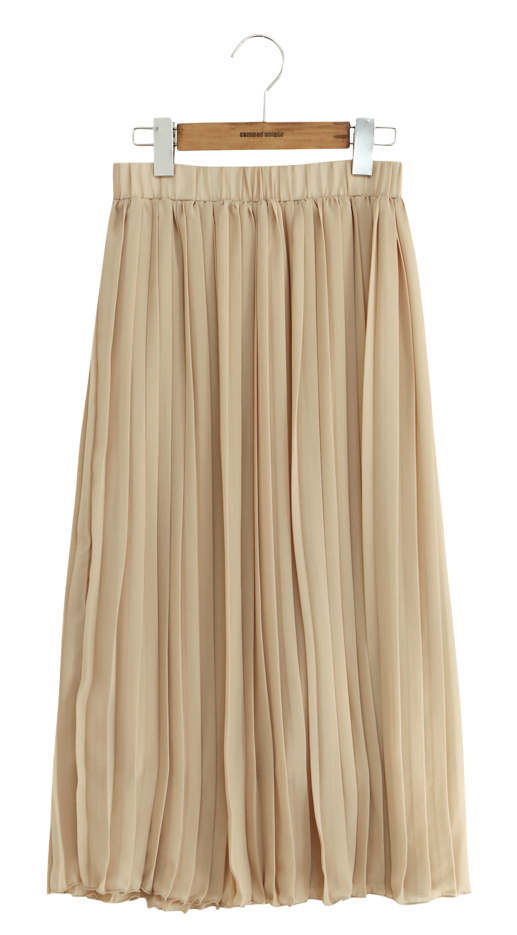 SHIFFON PLEATS LONG SKIRT