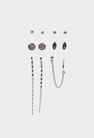 Cubic earring set