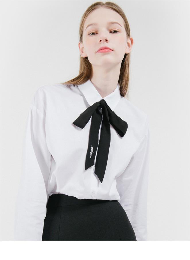 Midnight Ribbon Tie Shirt