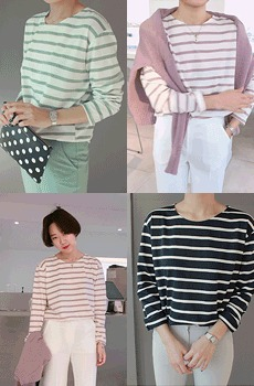 Friends-striped tee