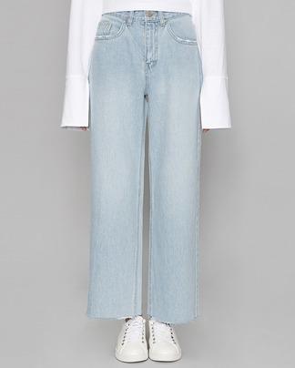 back line wide denim pants