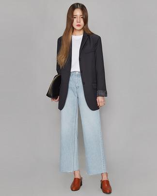 mannish stripe jacket (2 colors)