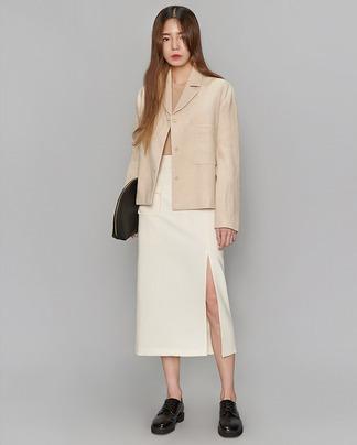 modern linen short jacket (2 colors)