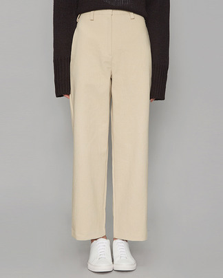 casual cotton straight pants (3 colors)