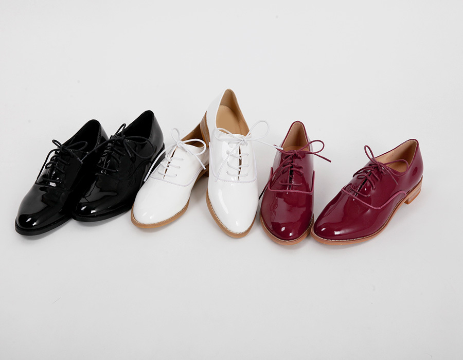 Campus enamel oxford loafer_K(size : 225,230,235,240,245,250)