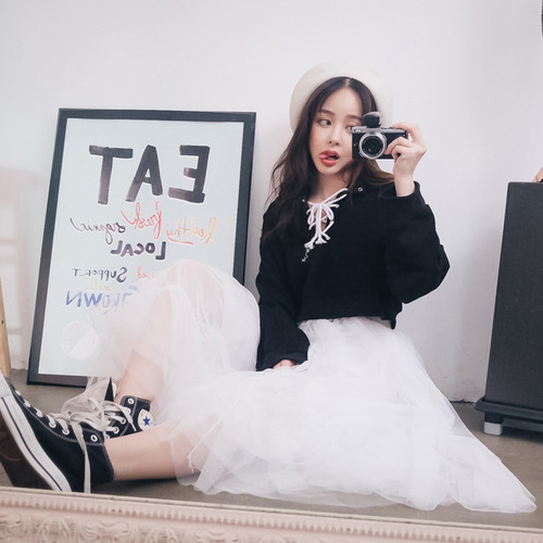 Sasha chiffon long skirt