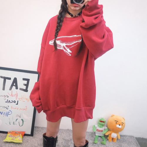고래 박시 맨투맨 (t2208)