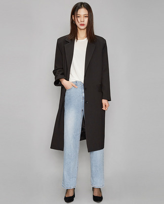 boxy fit chic mood black coat
