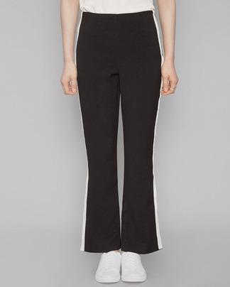 trendy velvet line track pants (2 colors)