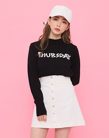 Daily color round knit