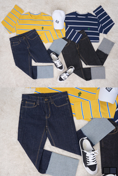 Ralee roll-up denim jeans P