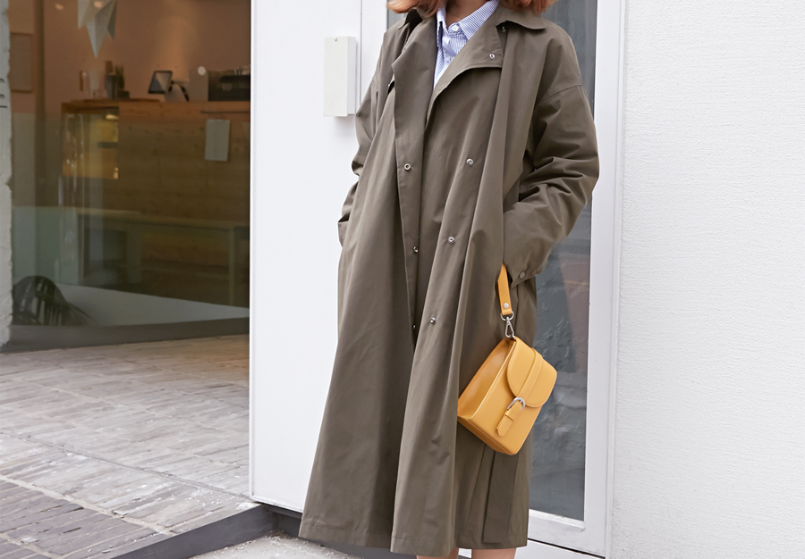Under snap trench coat_H (size : free)