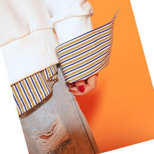 비비드 단가라 셔츠 (nb212)