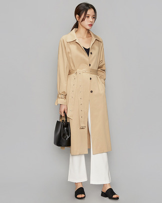 long slit unique trench coat (2 colors)